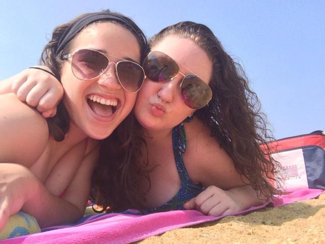 beach with j