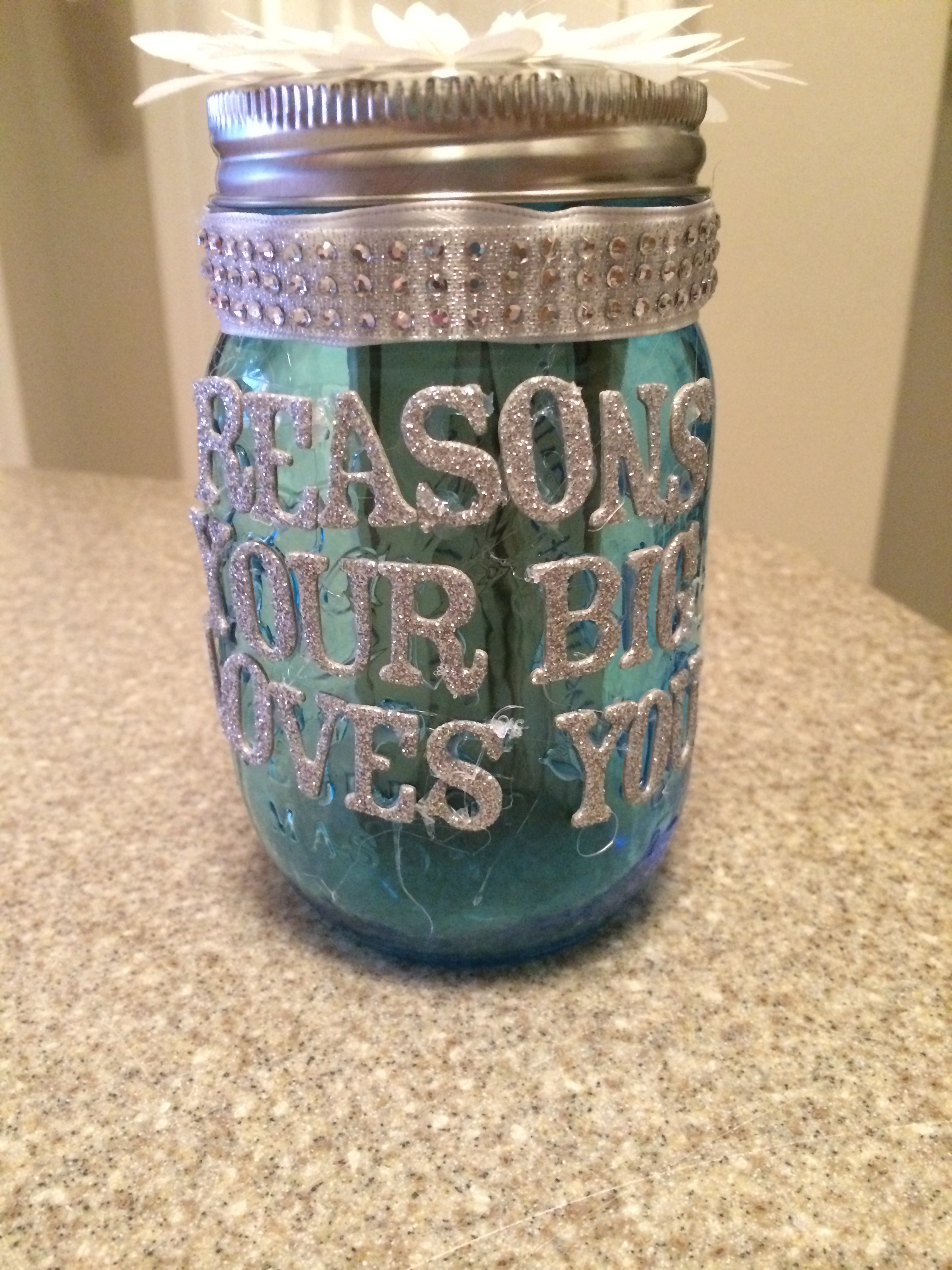 Mason Jar Craft Sparkle And Shine