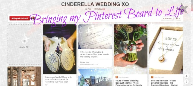CINDERELLA WEDDING BOARD graphic