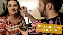 My guy BFF does my makeup